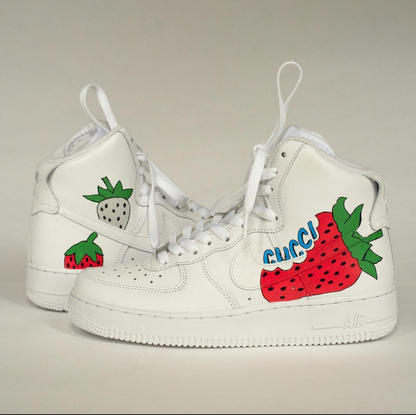 Custom Painted Gucci Sneakers - Size 8