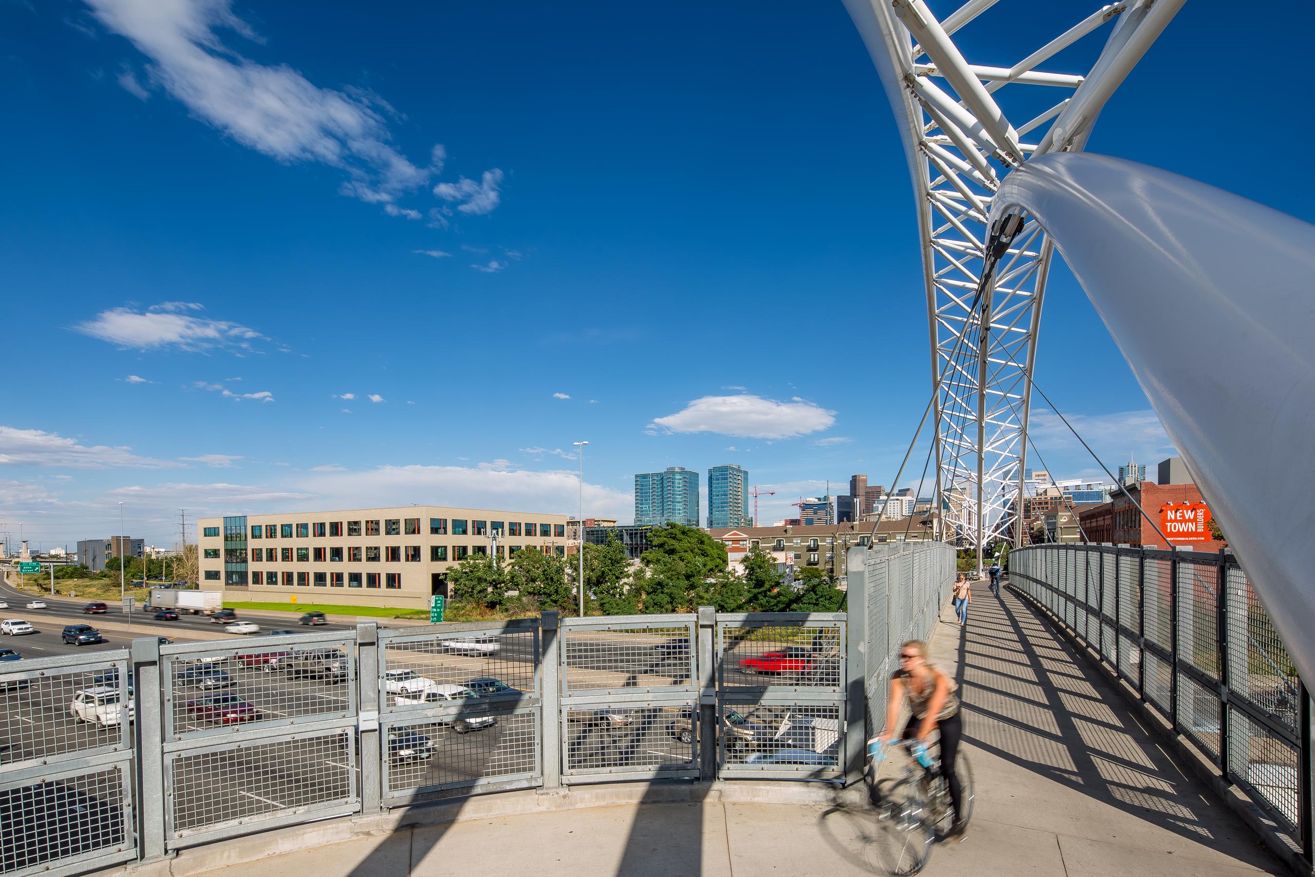 006 open studio architecture The Lab pedestrian bridge view OSA