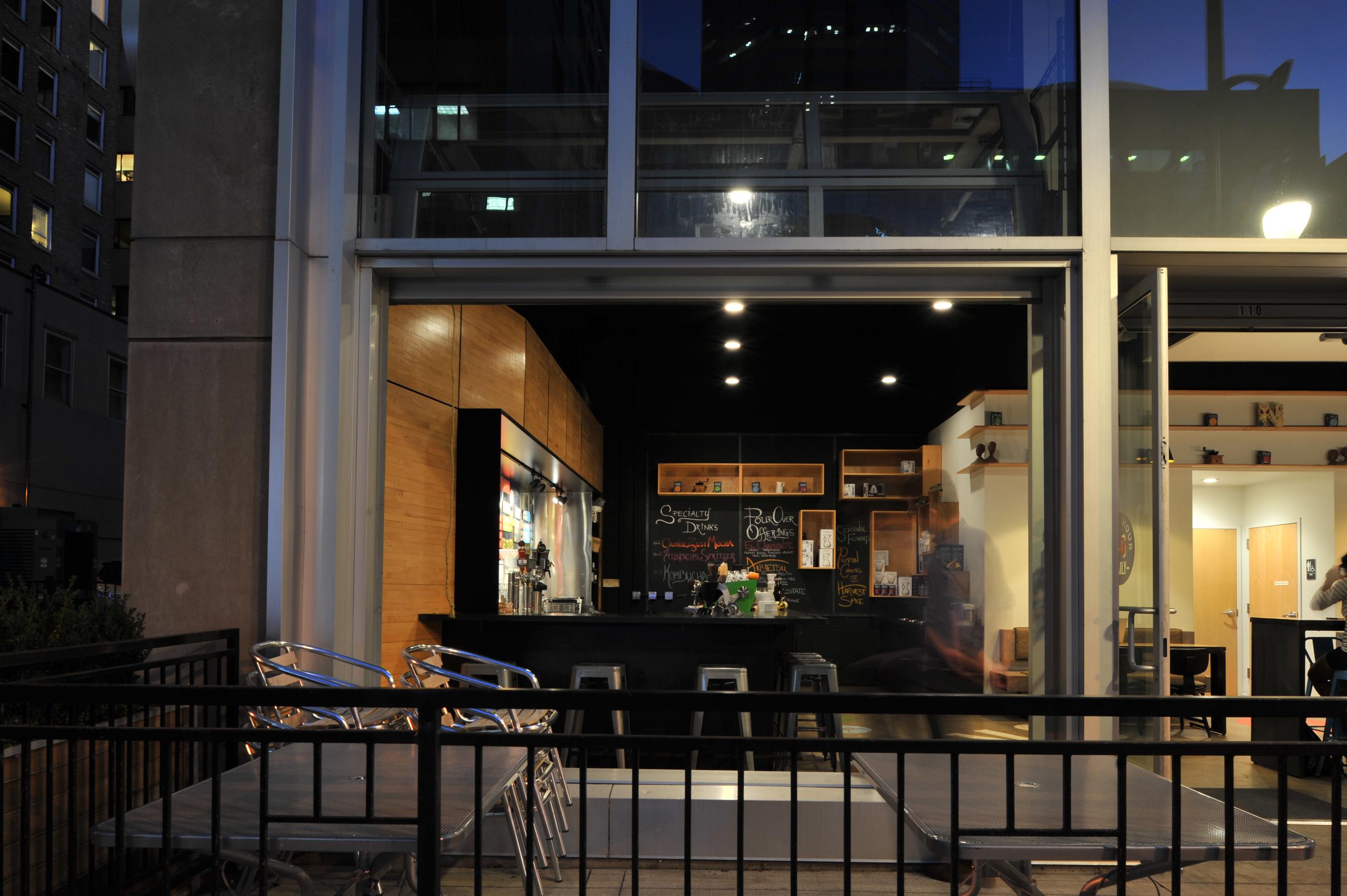 Novo Coffee shop 1600 glenarm outside patio open studio architecture OSA