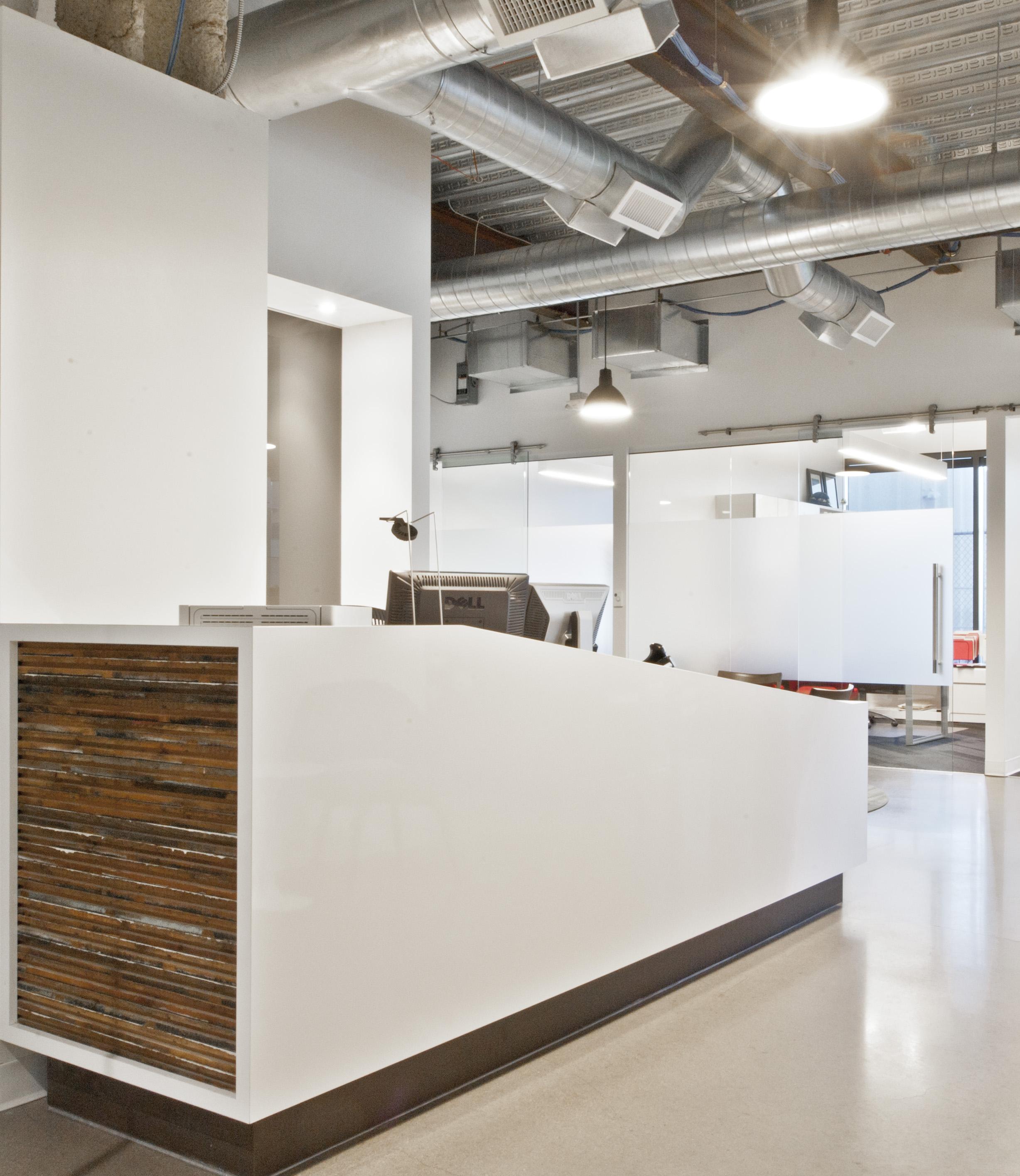 Open Studio Architecture Nichols Partnership Interior Reception Desk OSA