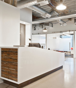 Open Studio Architecture Nichols Partnership Interior Reception Desk OSA