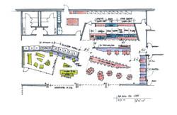 8 Red Bull Headquarters North America open studio architecture OSA - cafe sketch