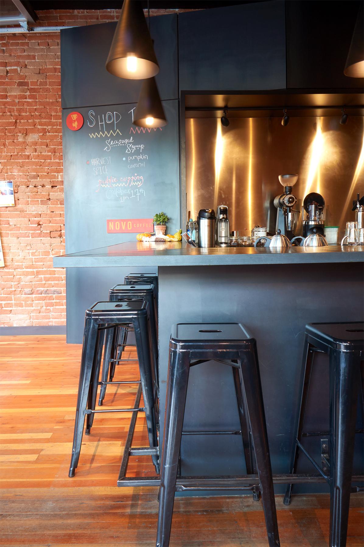 Novo Coffee shop 6th & Gilpin end of service bar open studio architecture OSA