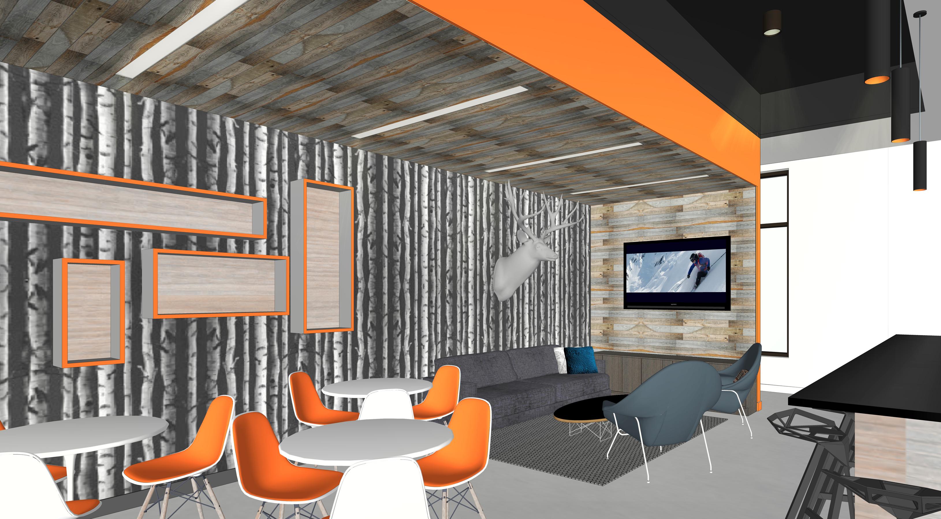 Snobahn ski + snowboard open studio architecture OSA indoor skiing lounge