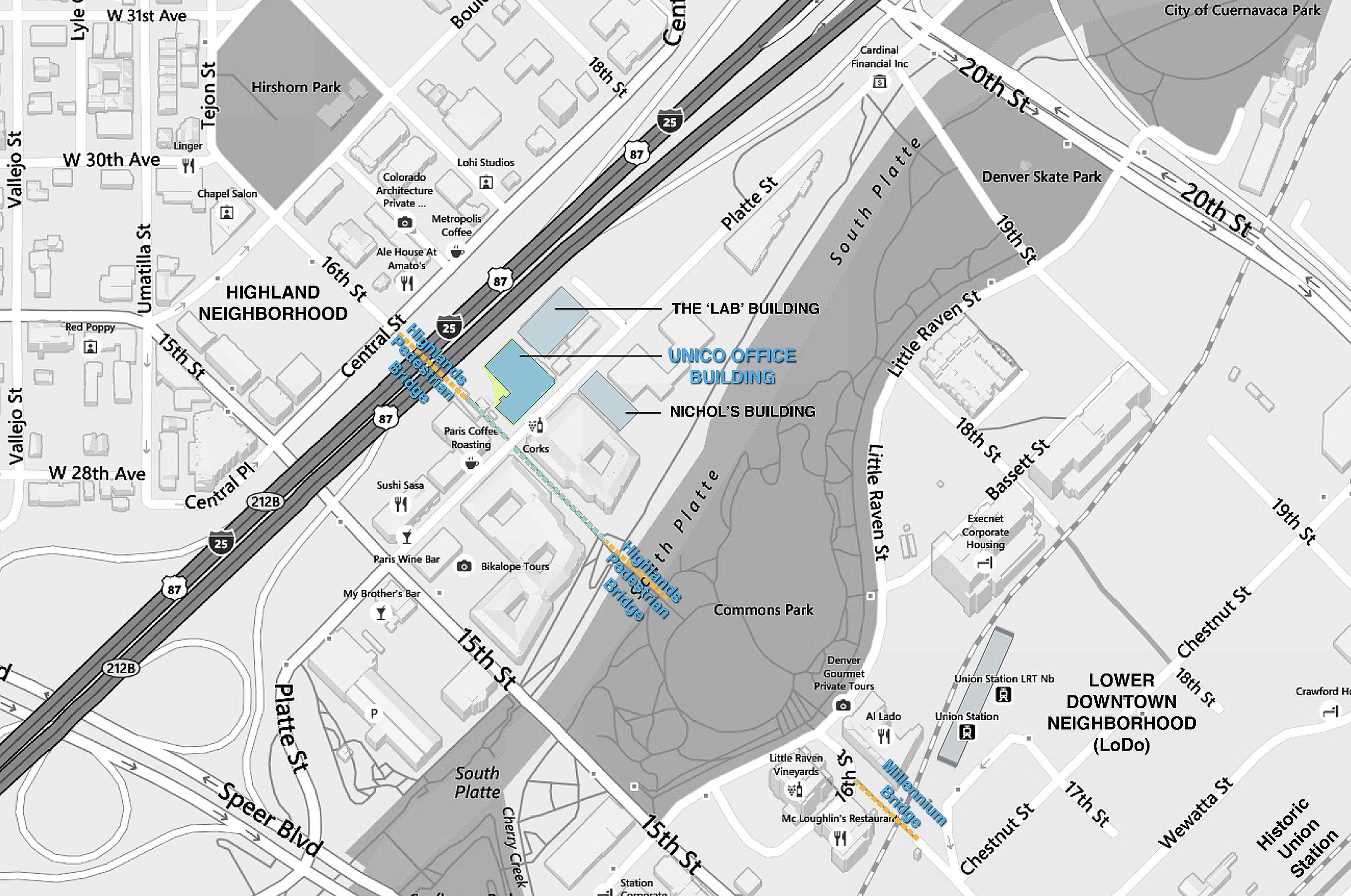 OSA Open Studio Architecture Unico Platte Street project map
