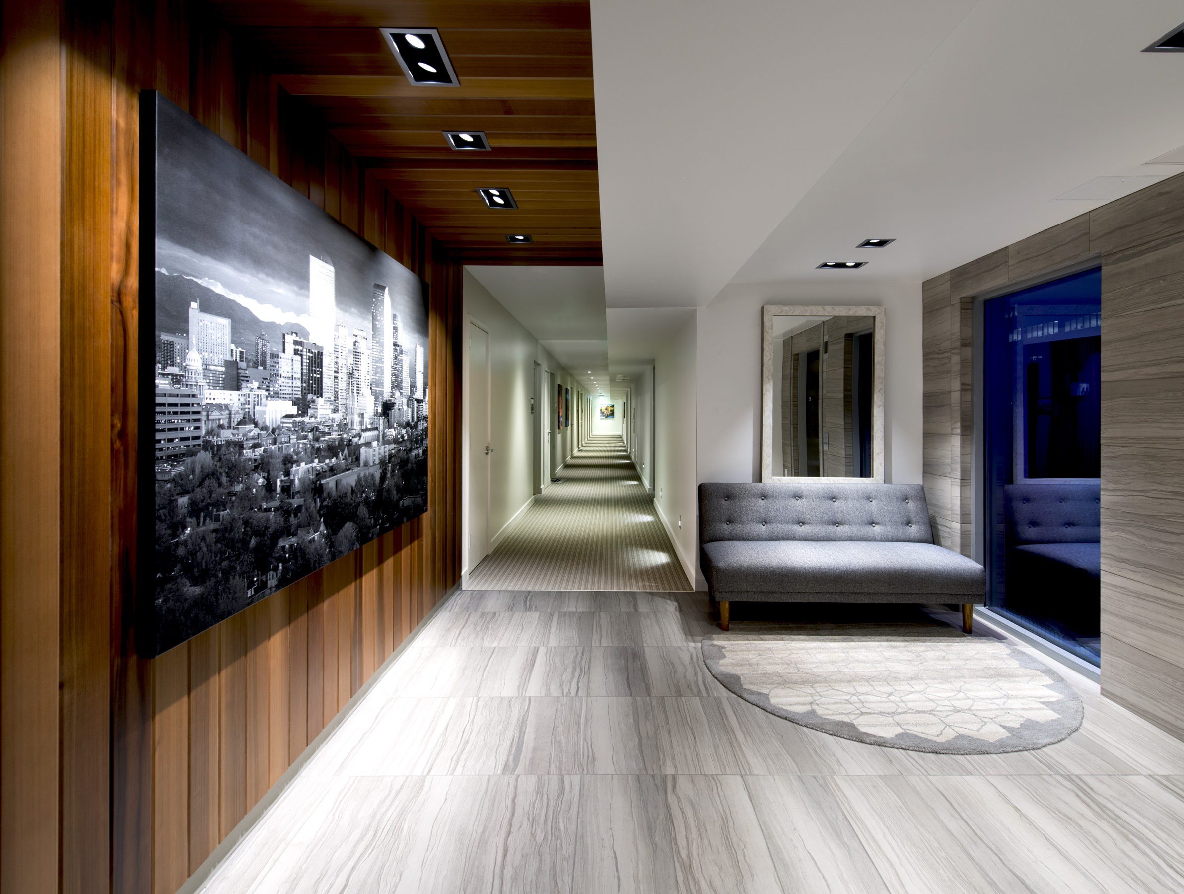 10 Residences at Fillmore Plaza Cherry Creek open studio architecture OSA - interior lobby