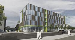 4 pbs platte street glass brick pattern facade open studio architecture