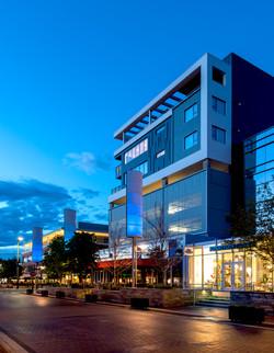 14 Residences at Fillmore Plaza Cherry Creek open studio architecture OSA - massing fillmore evening
