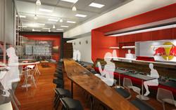7 Red Bull Headquarters North America open studio architecture OSA - cafe rendering