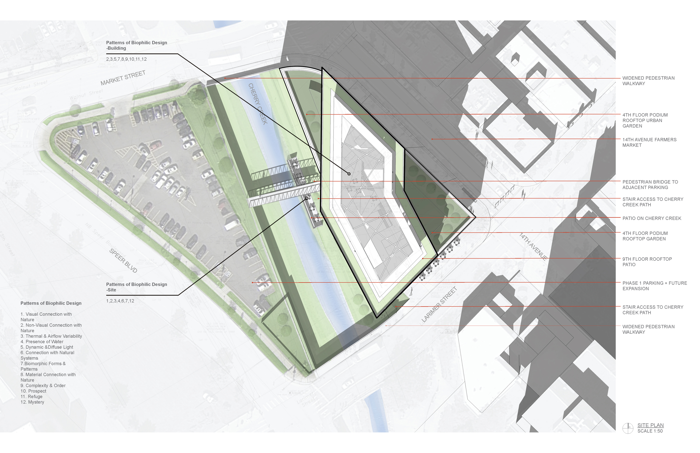 3 14th and Larimer site plan open studio architecture