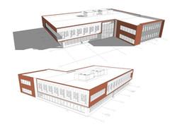 Brinkman Partners HQ The Fuse axo diagram open studio architecture OSA