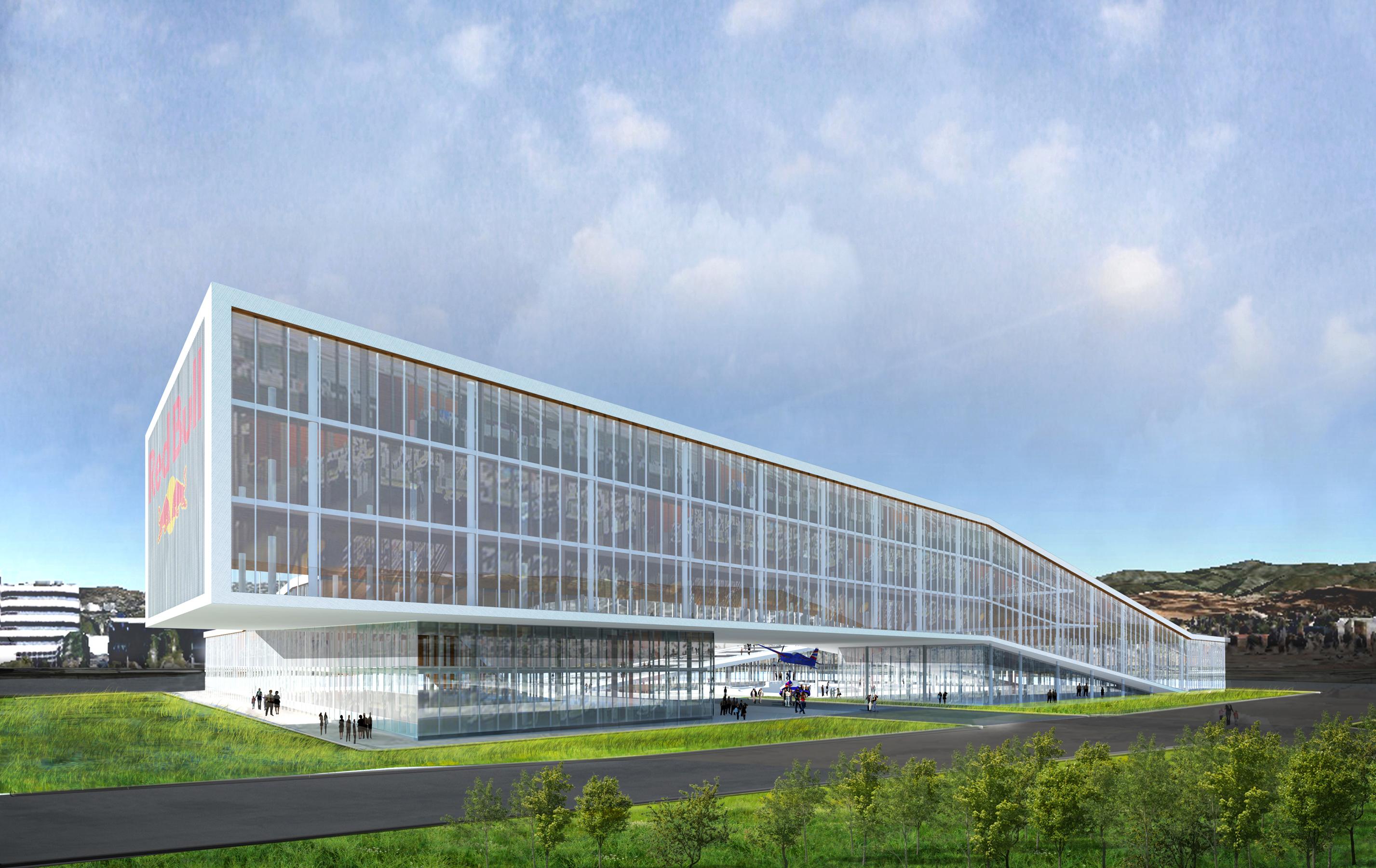 12 Red Bull Headquarters North America open studio architecture OSA - Option 1 exterior rendering