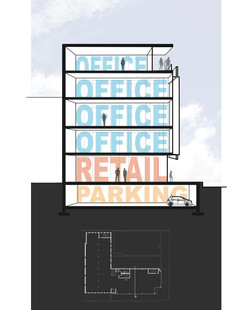 1500 Market Street building section perspective open studio architecture OSA