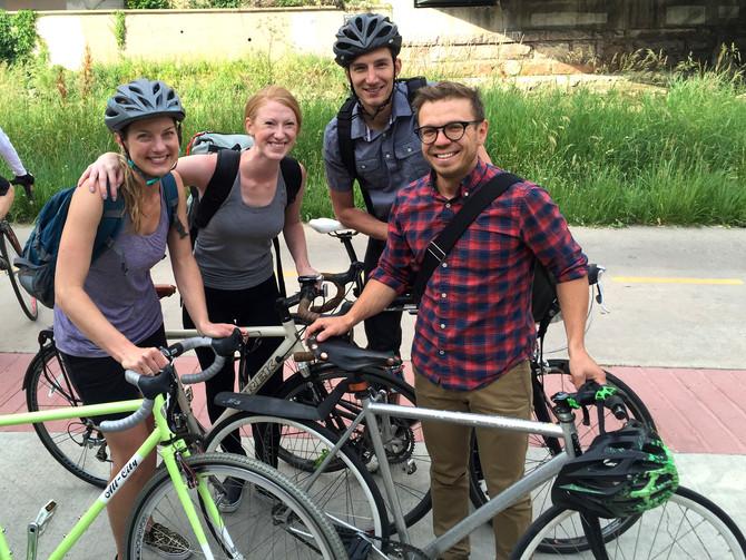 OSA bikes to work on Bike to Work Day