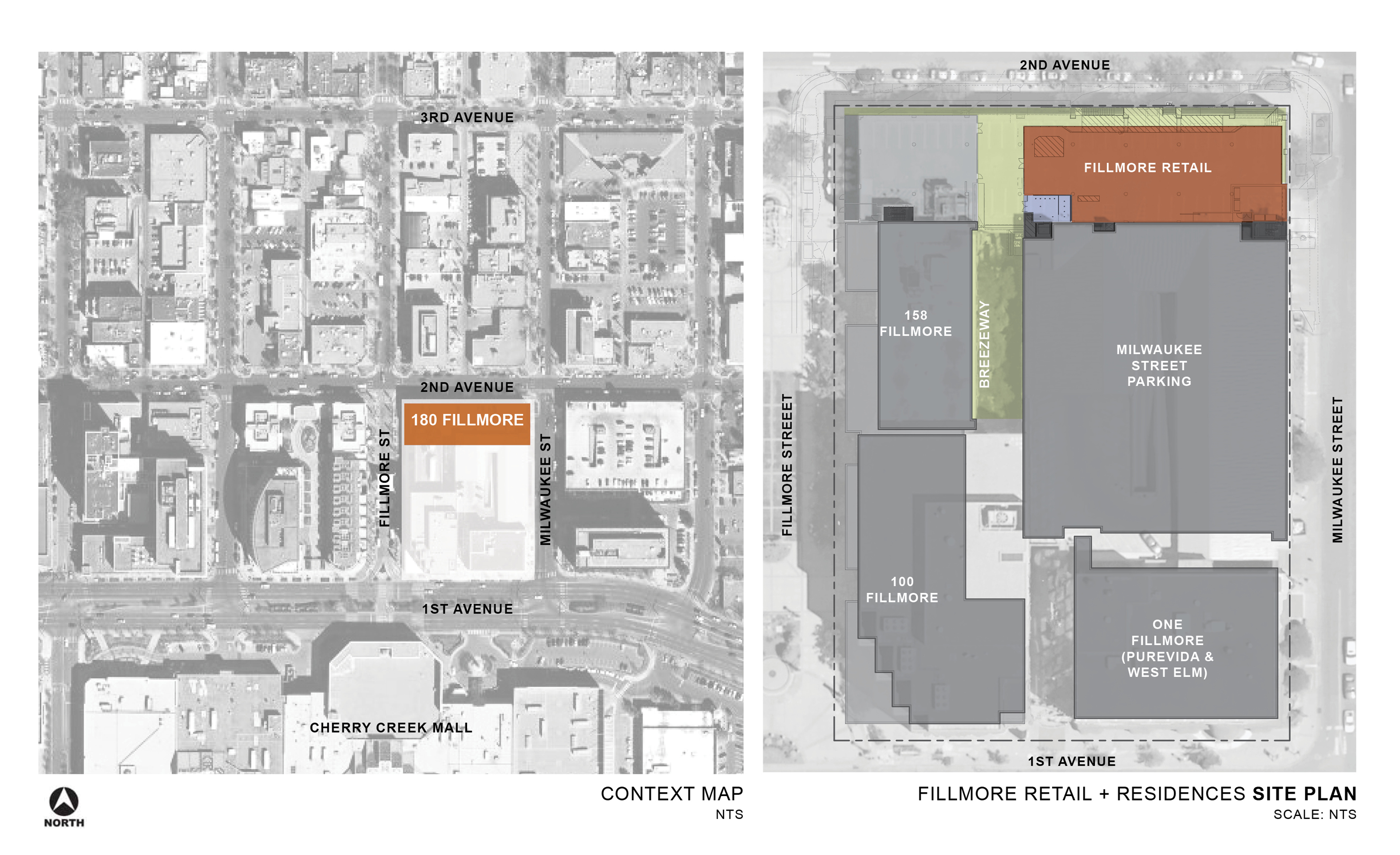 2 Residences at Fillmore Plaza Cherry Creek open studio architecture OSA - site plan
