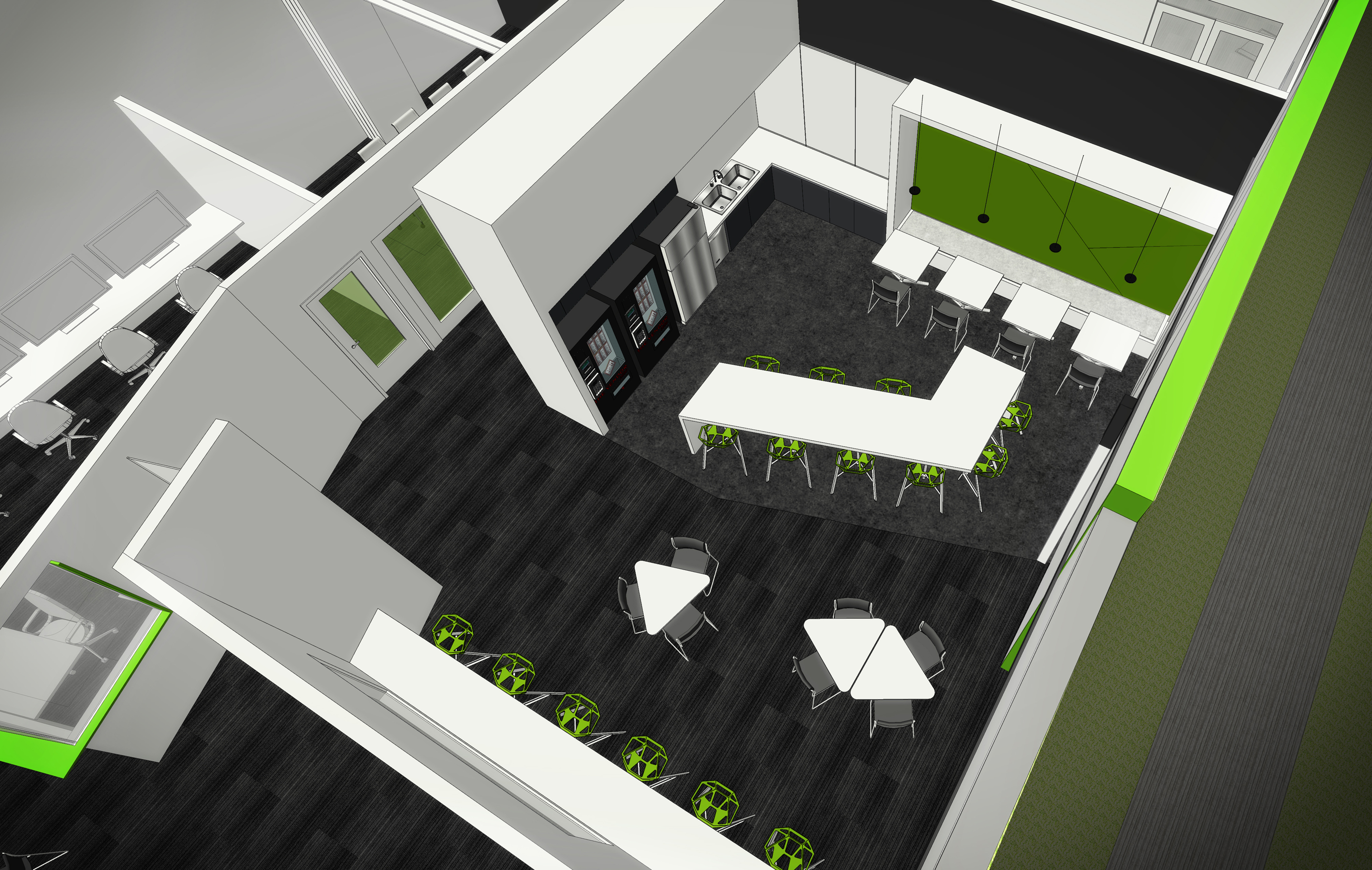 05 Green House Data Center Cheyenne open studio architecture - cafe rendering