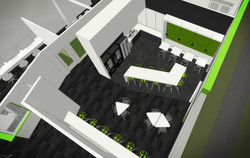 05 Green House Data Center Cheyenne open studio architecture - cafe rendering