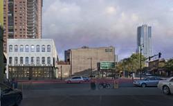 1500 Market Street rendered elevation existing openstudio architecture OSA