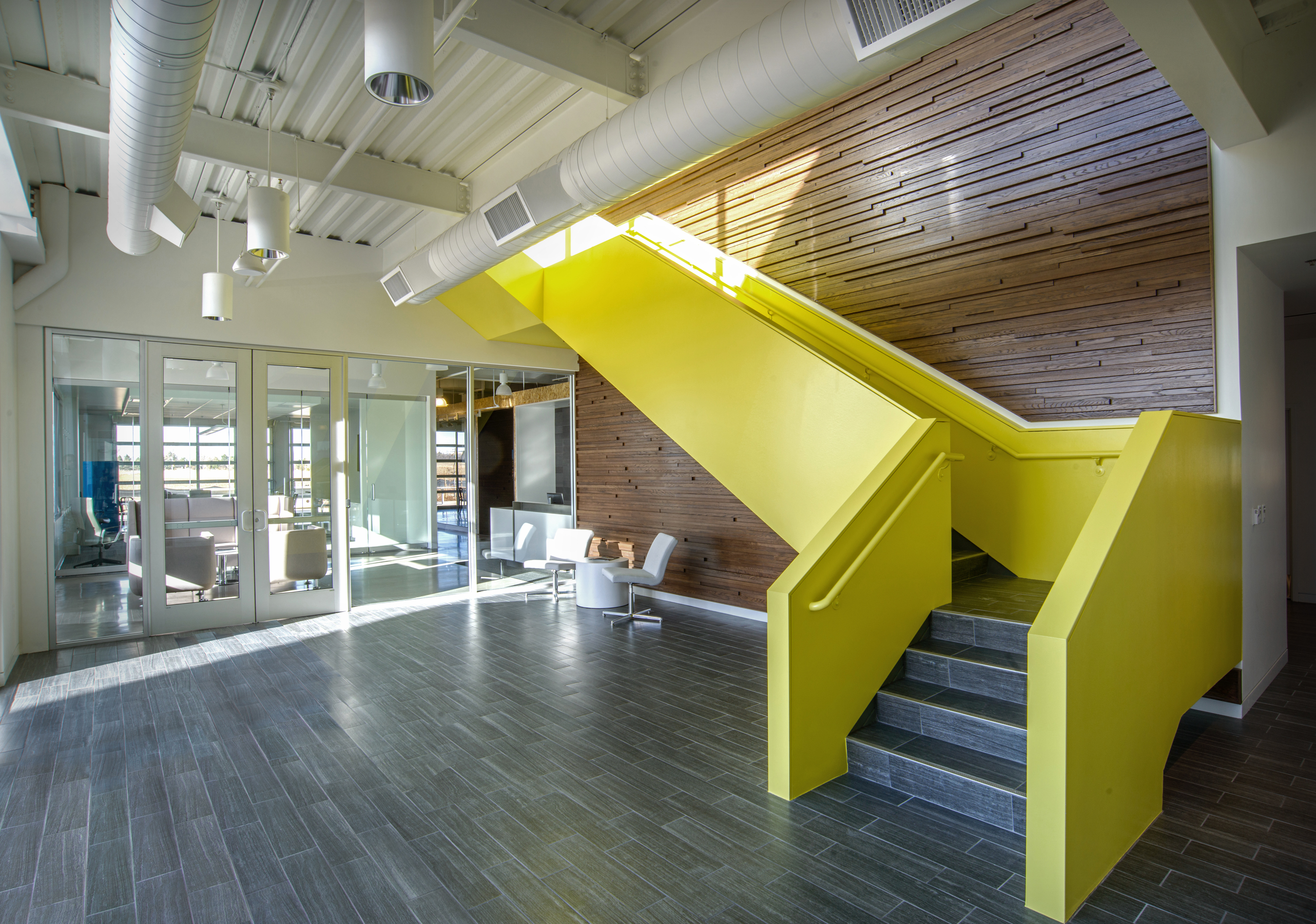 Brinkman Partners HQ The Fuse Lobby Staircase open studio architecture OSA