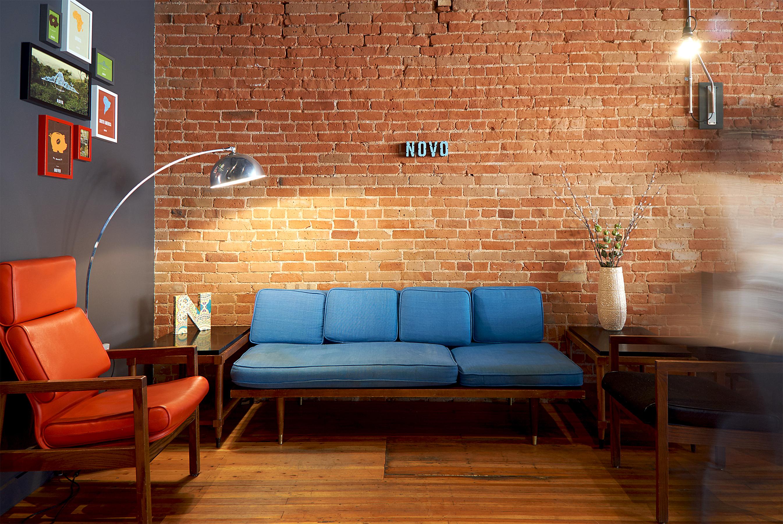 Novo Coffee shop 6th & Gilpin Lounge Seating Casual open studio architecture OSA
