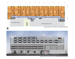 3 Residences at Fillmore Plaza Cherry Creek open studio architecture OSA - floor plan and elevation