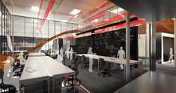 9 Red Bull Headquarters North America open studio architecture OSA - workspace rendering