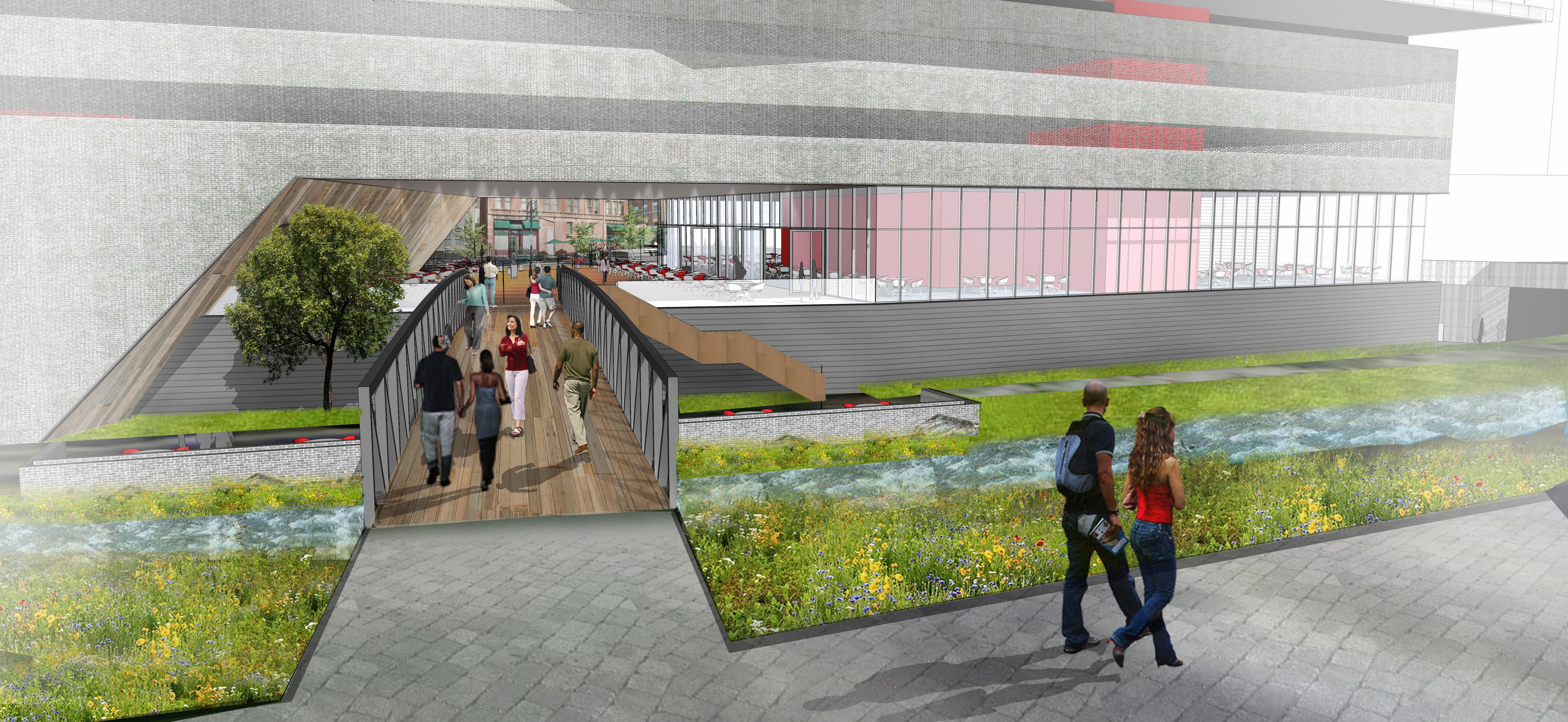 7 14th and Larimer pedestrian bridge crossing open studio architecture