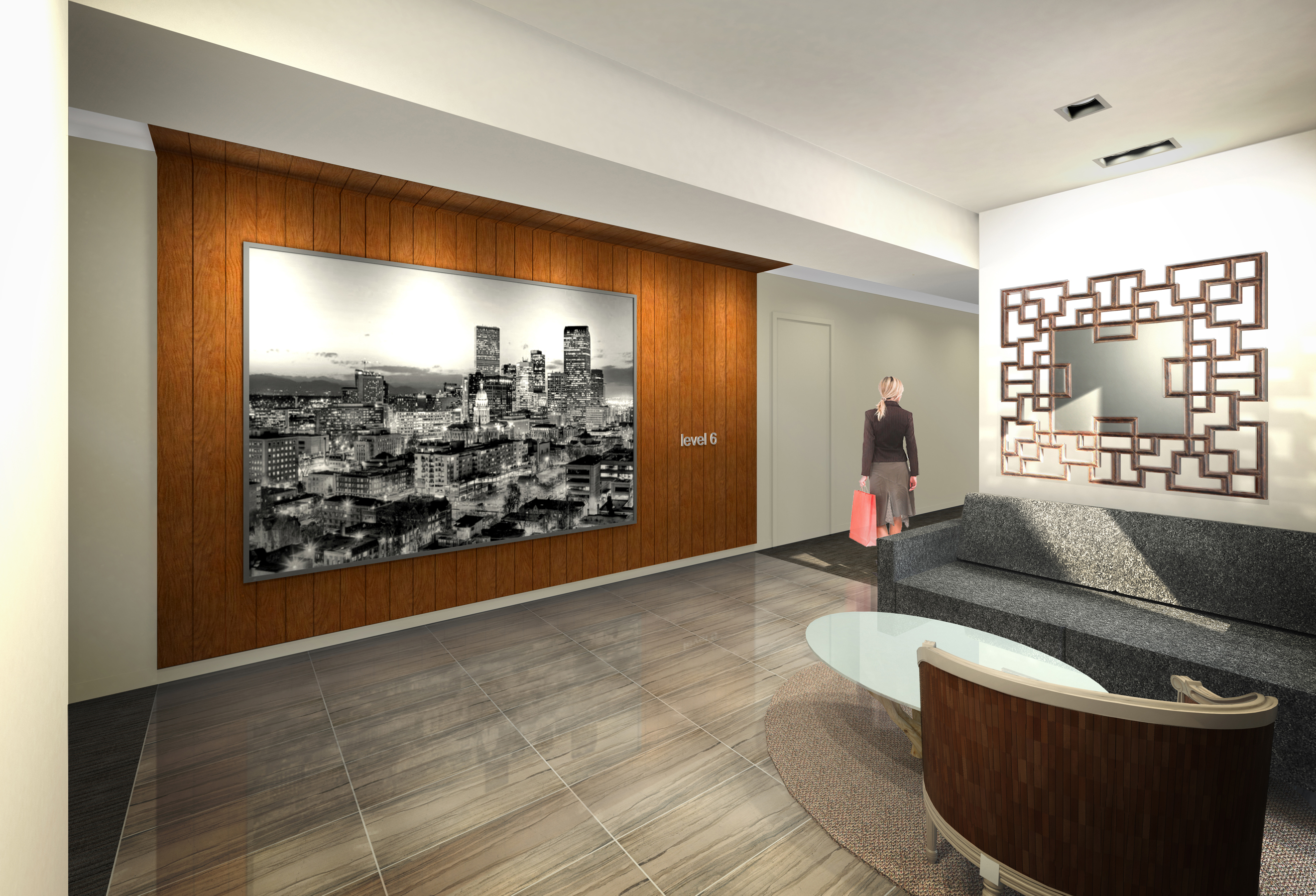 9 Residences at Fillmore Plaza Cherry Creek open studio architecture OSA - interior rendering elevat