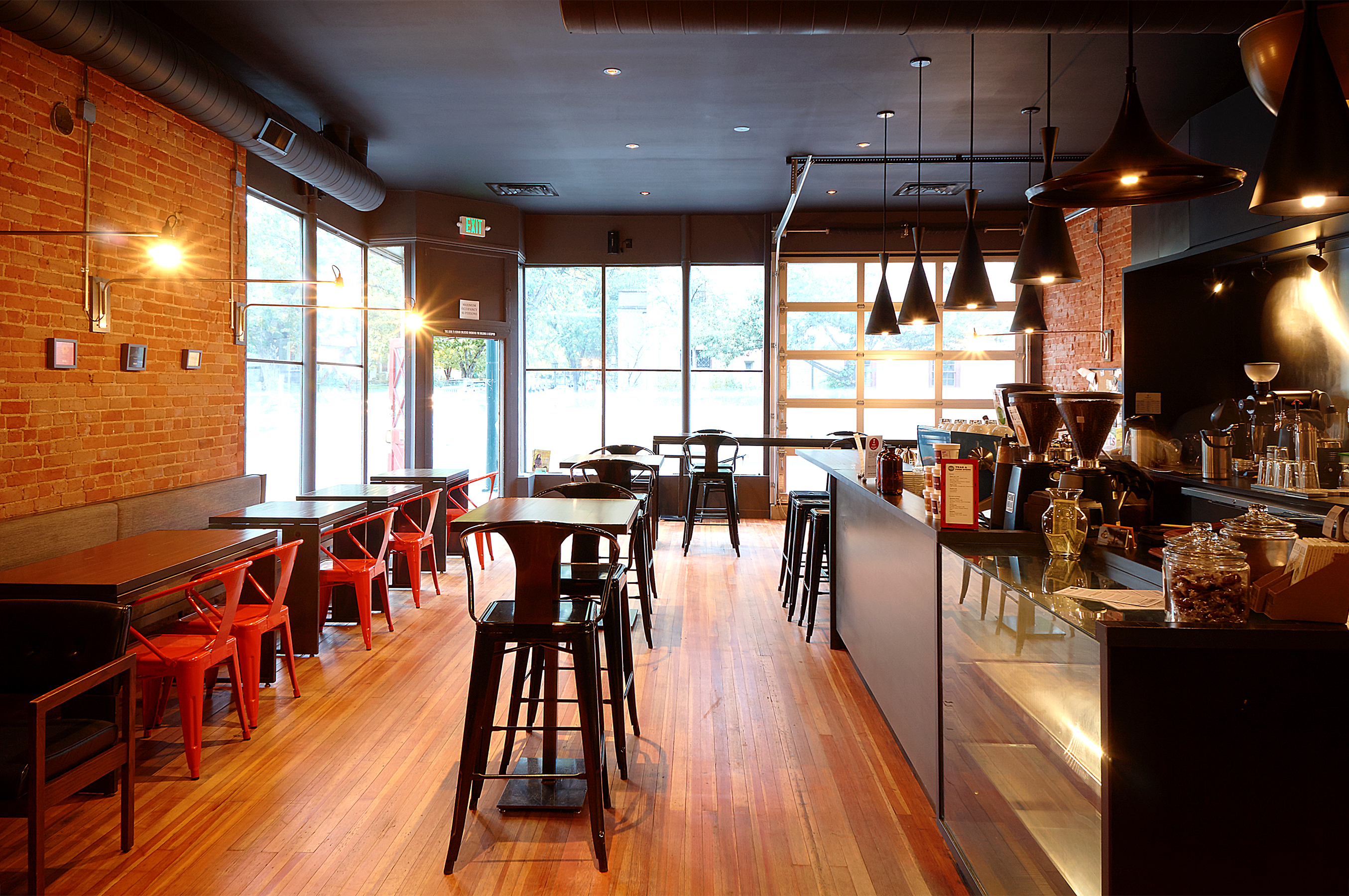 Novo Coffee Shop 6th & Gilpin from back of space Open studio architecture OSA