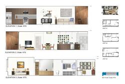 11 Residences at Fillmore Plaza Cherry Creek open studio architecture OSA - interior elevations