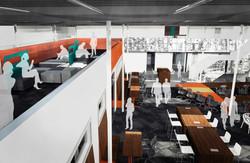 galvanize 1.0 cowork mezzanine concept open studio architecture OSA