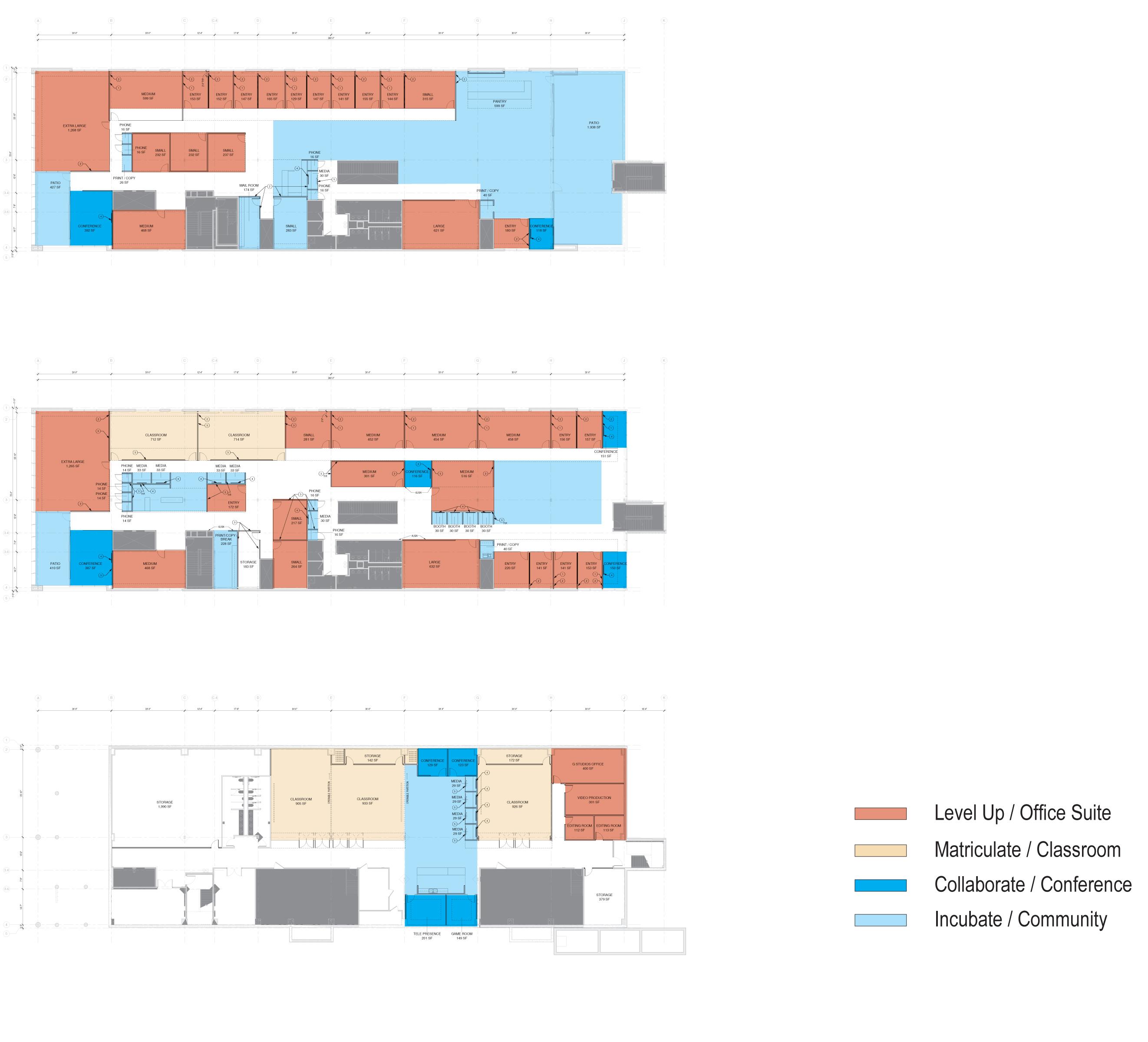 open studio architecture galvanize2 floor plan diagrams OSA