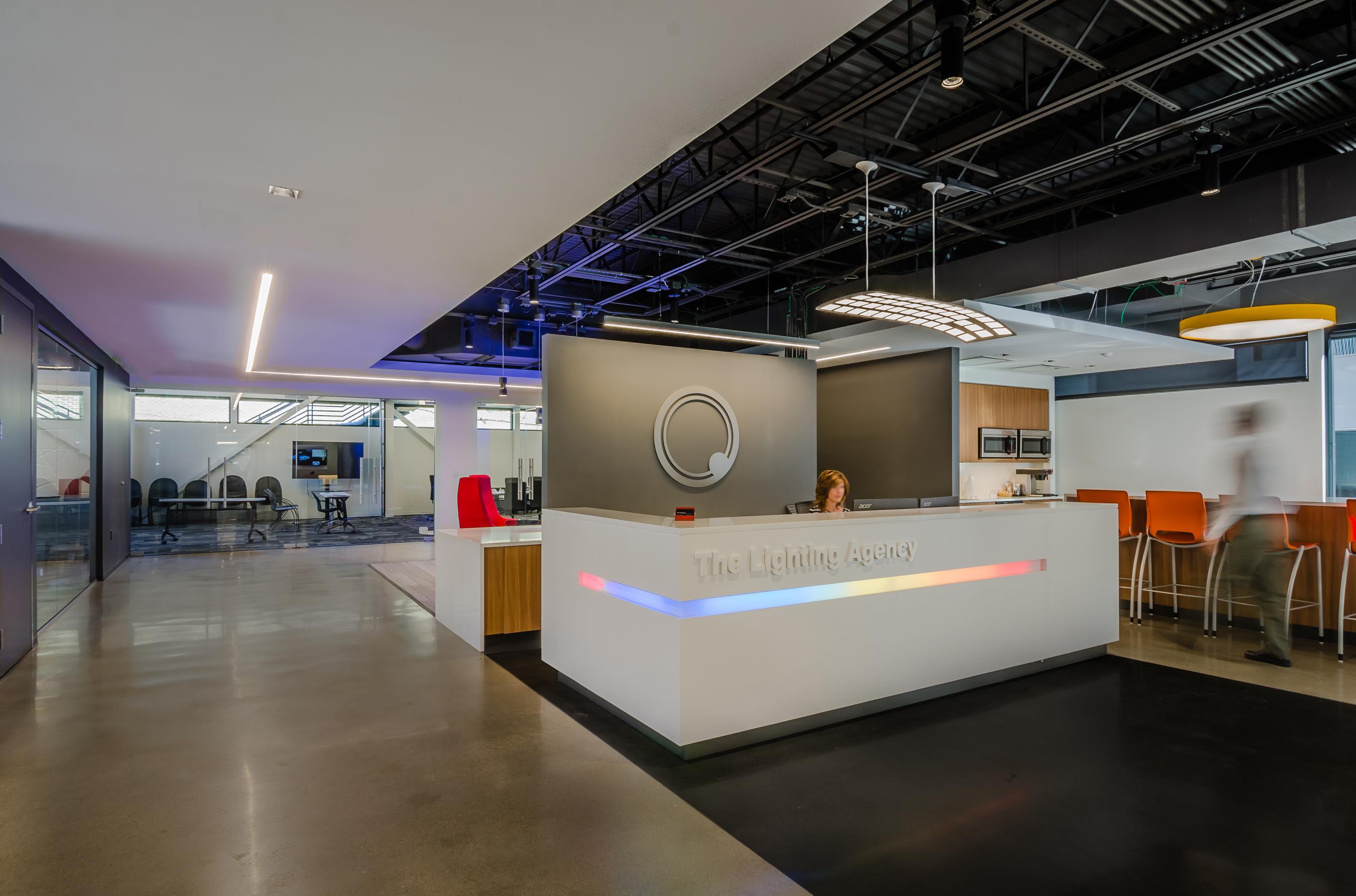 The Lighting Agency TLA Reception showroom entrance Open Studio Architecture OSA