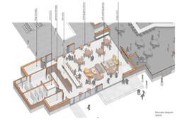 open studio architecture new belgium brewery liquid center expansion floor plan layout diagram osa