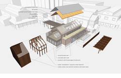 open studio architecture new belgium brewery liquid center expansion exploded axonomteric osa