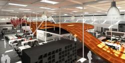 6 Red Bull Headquarters North America open studio architecture OSA - overall rendering