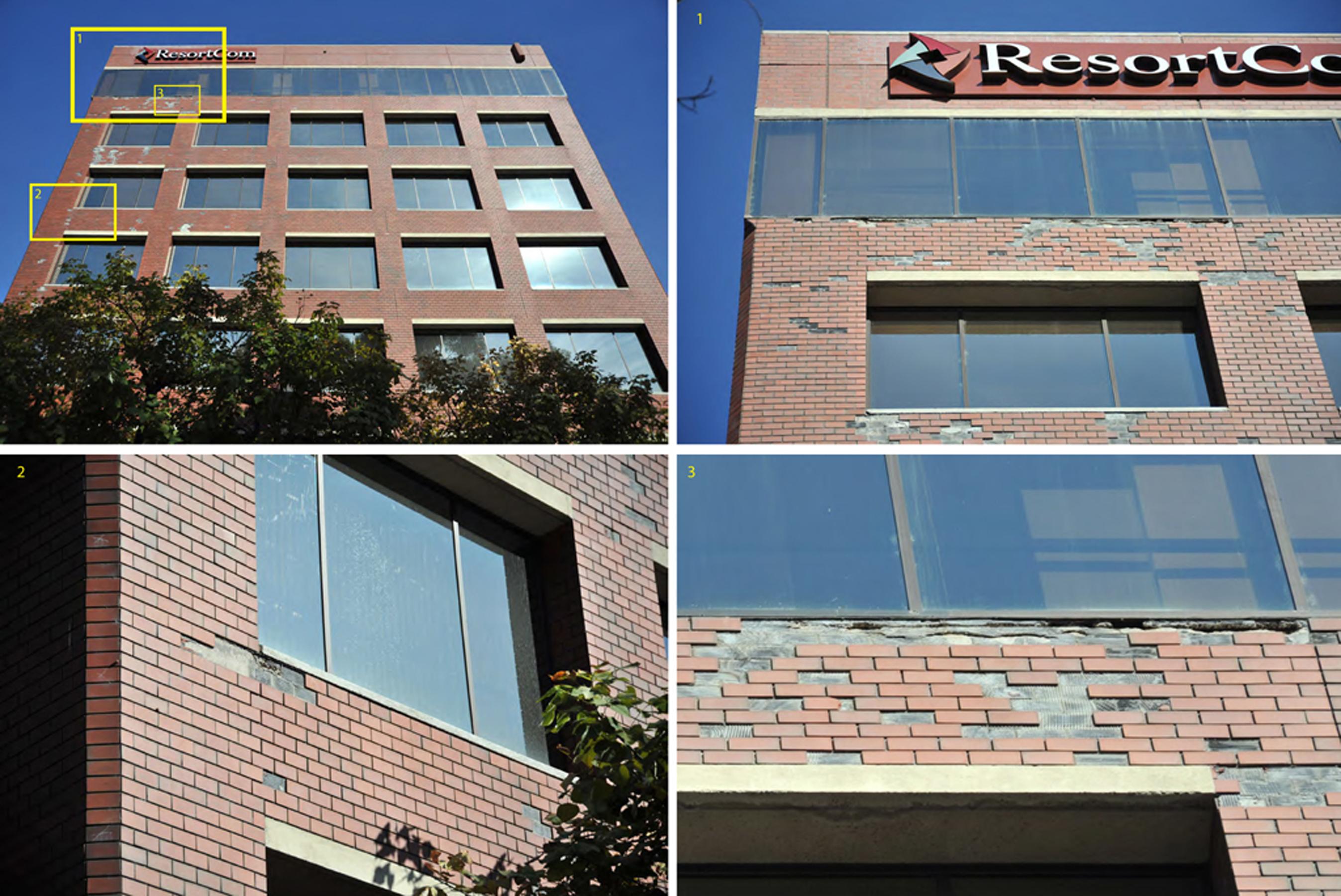 001 open studio architecture Brookwood Crossroads Existing Brick Deterioration OSA