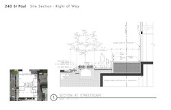 240 St Paul Site Section Right of way 2.