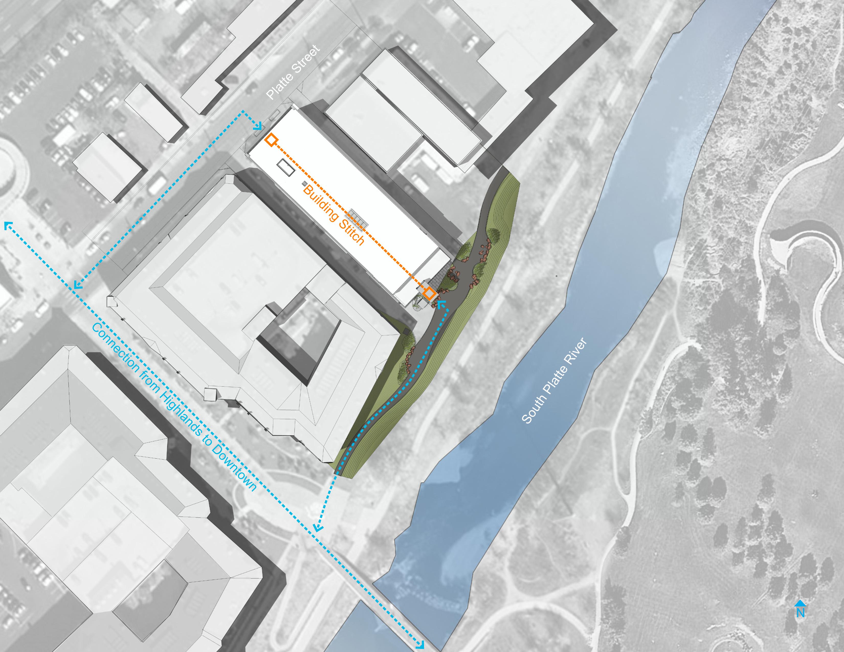 open studio architecture the nichols building site diagram OSA