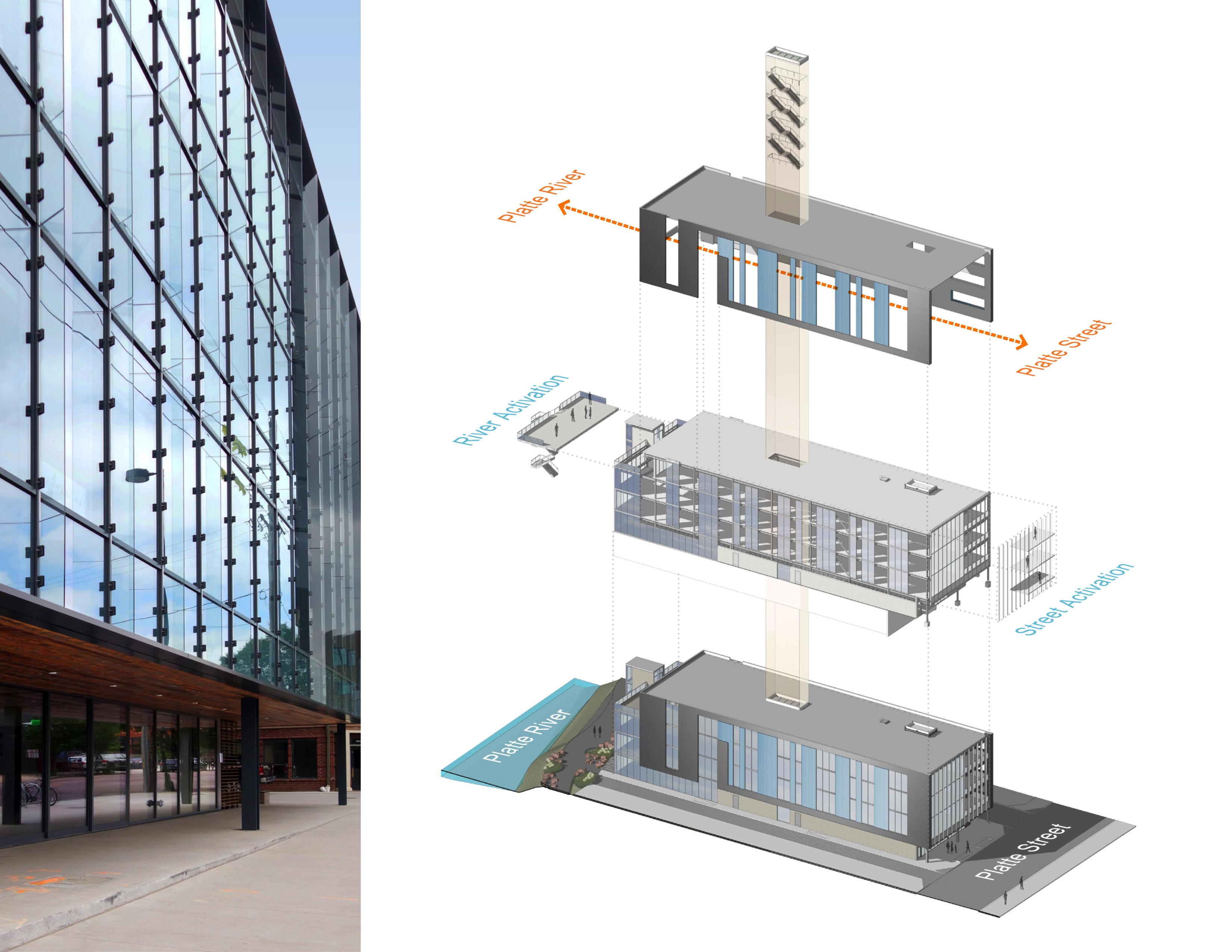 open studio architecture the nichols building axon diagram OSA