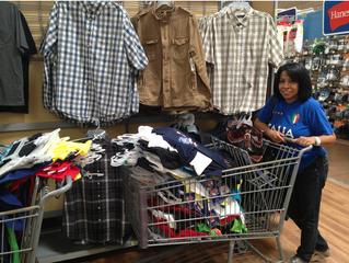 Shopping for children's clothing