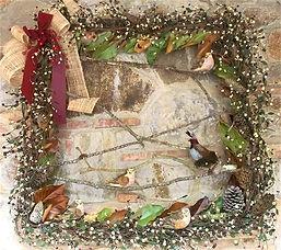 wreath, stone