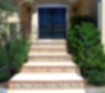 curb appeal, mosaics, marble, tile, black doors, entry