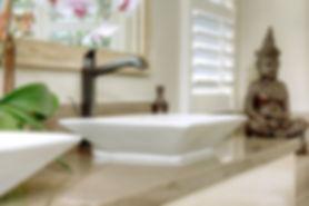 bathroom remodel, oak, quartz, vessel sink, faucet, Hans Grohe, mirror