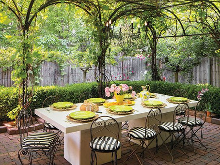 Question: How can we make a big backyard cozy?