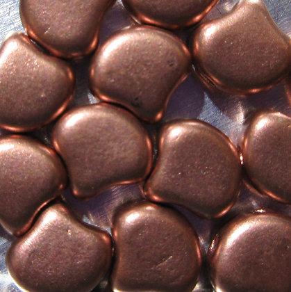 7.5x7.5mm 2-Hole Ginko Bronze Copper
