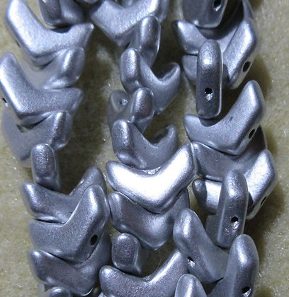 10x4mm 2-Hole Chevron Bronze Aluminum