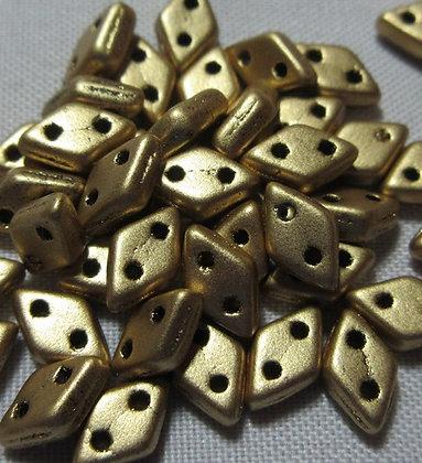 4x6mm 2-hole Diamond Matte Metallic Flax