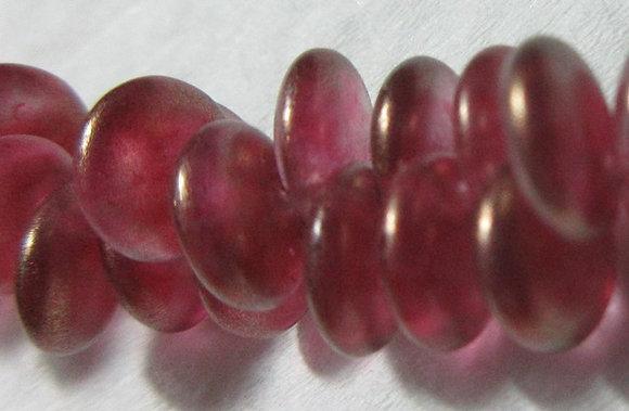 6mm Pink Gold Luster Lentil Beads