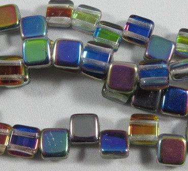 Crystal Vitrail Tile Bead